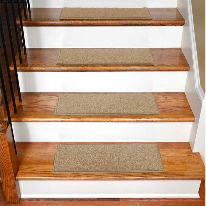 Bazemore Solid Color Non Slip Rubber Backed Stair Tread
