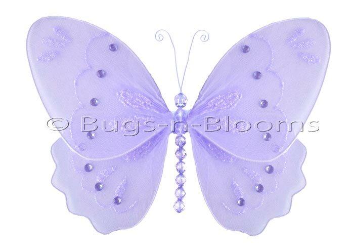 Harriet Bee Kristopher Butterfly Hanging Glitter Nylon 3D Wall Decor ...