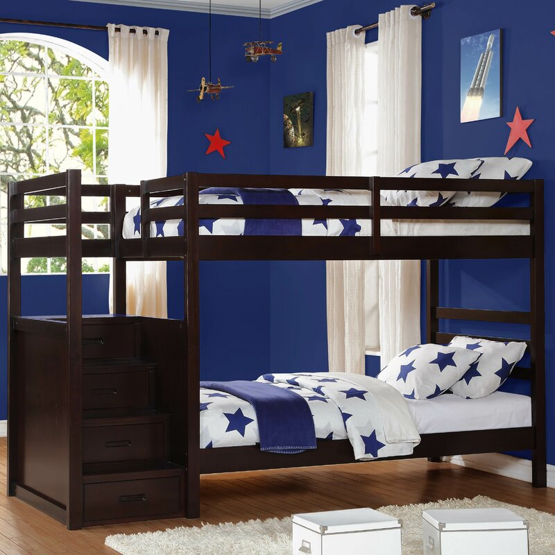 Twin Bunk Beds With Storage Part - 17: Atlas Twin Over Twin Bunk Bed With Storage