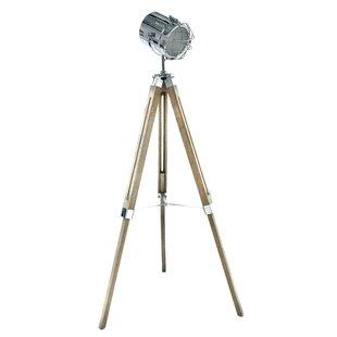 Wood floor lamps wayfair brittaney wooden metal 155cm tripod floor lamp aloadofball Images