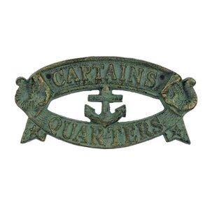 Metal Captains Quarters Sign Wall Du00e9cor