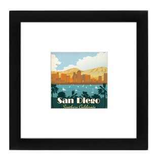 San Diego Framed Vintage Advertisement  sc 1 st  Wayfair & San Diego Wall Art Vintage | Wayfair