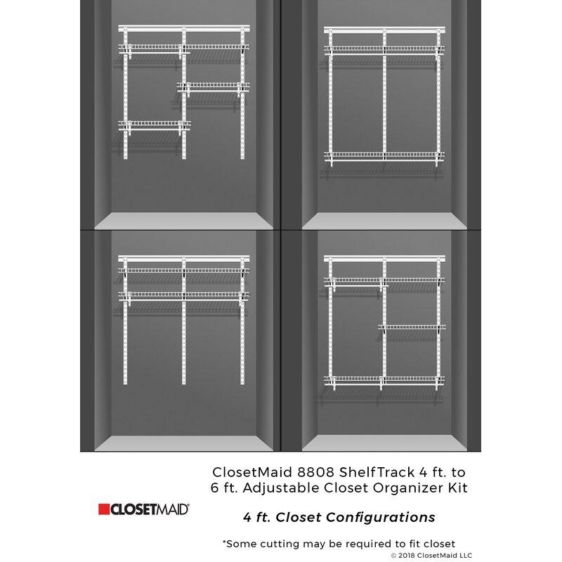 Closetmaid Shelftrack 48 W 72 W Closet System Reviews Wayfair