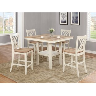 Channelle 5 Piece Pub Table Set