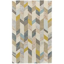 Christine Hand Tufted Gray/Gold Area Rug