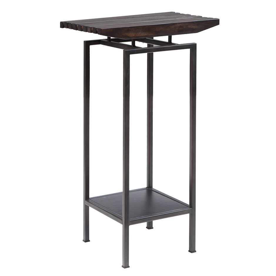 pedestal kitchen sink slat pedestal end table amp reviews allmodern 1441