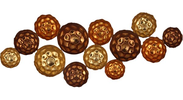 Metal Circle Wall Decor pacific lifestyle metal circles wall décor & reviews | wayfair.co.uk