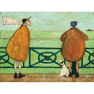 'I Hope I'm Always With You' by Sam Toft Print on Canvas