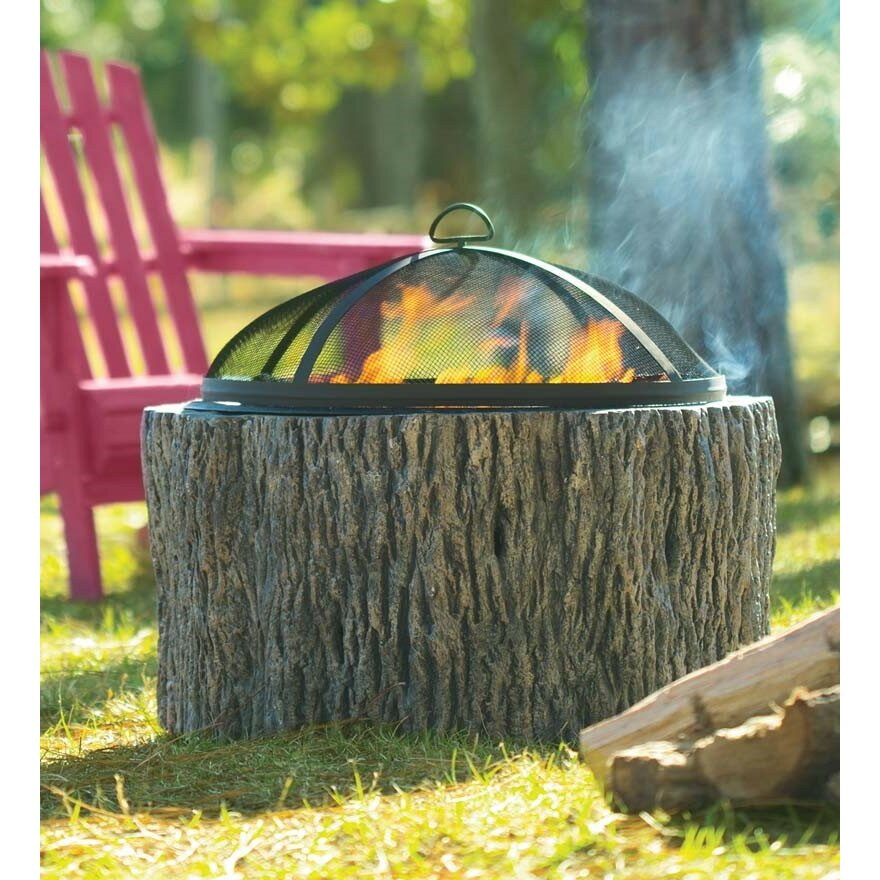 Plow & Hearth Stone Wood Burning Fire Pit & Reviews | Wayfair