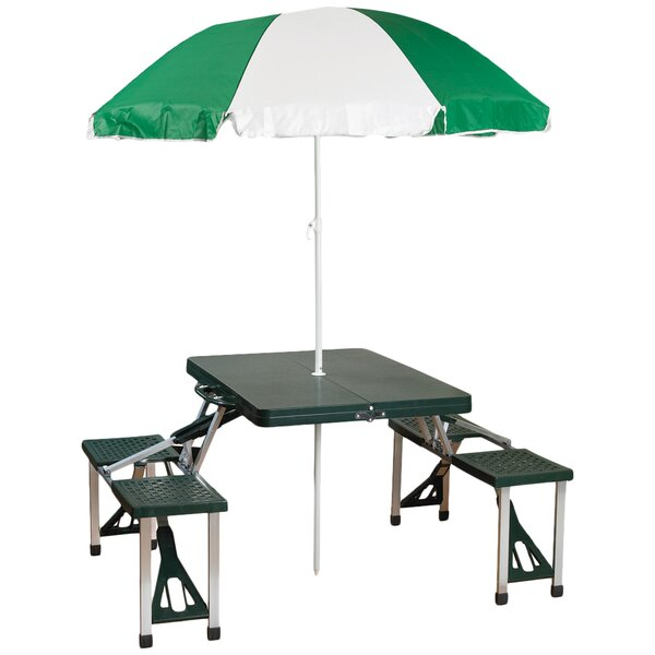 Stansport Picnic Table With Umbrella Amp Reviews Wayfair