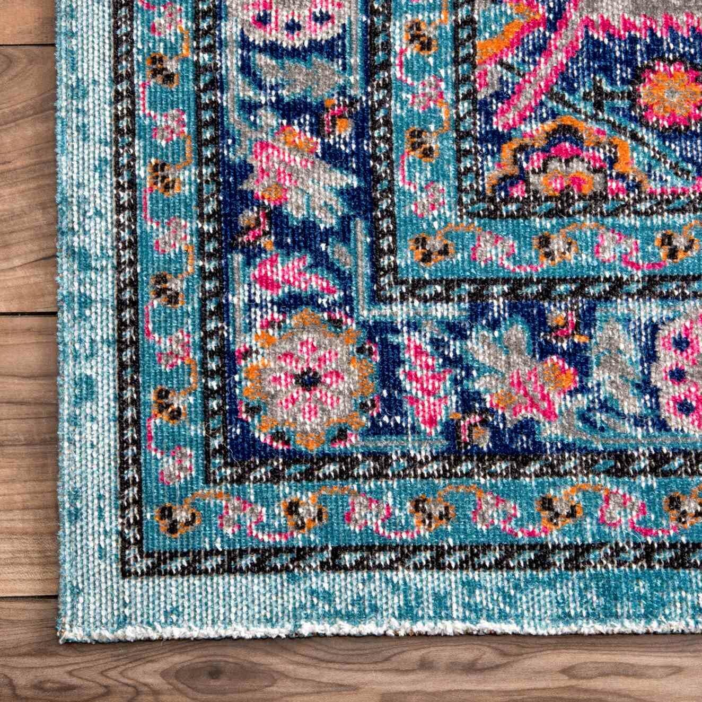 Bungalow Rose Babita Blue Pink Area Rug Amp Reviews Wayfair