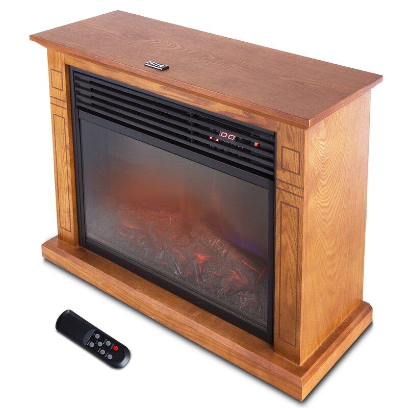 Della 1500 Watt Deluxe Infrared Quartz Heater Flame Wood Log ...