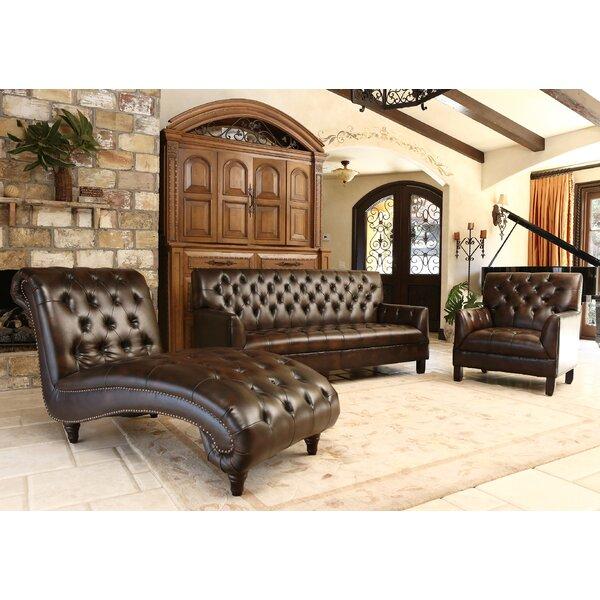Darby Home Co Straub 3 Piece Leather Living Room Set | Wayfair