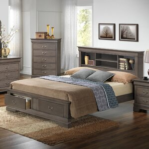 corbeil storage platform bed - Bed Frames With Drawers