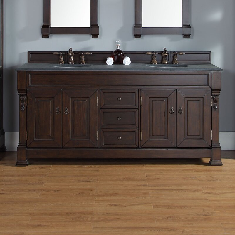 Bedrock 72 Double Bathroom Vanity Base
