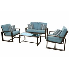 Escoto 4 Piece Seating Group with Cushions