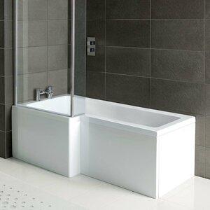 Robert 170cm x 85cm Shower Bath Soaking Bathtub