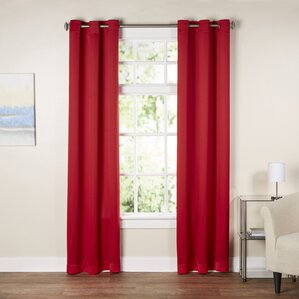 red curtains & drapes you'll love | wayfair