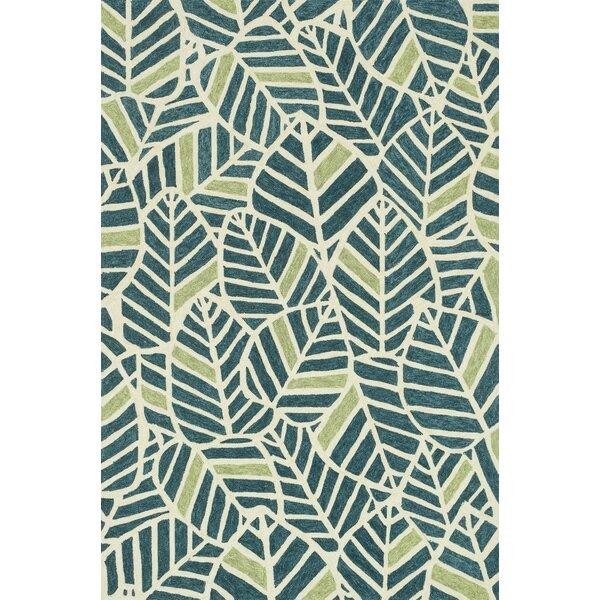 Superior Loloi Rugs Tropez Hand Hooked Blue/Green Indoor/Outdoor Area Rug U0026 Reviews  | Wayfair
