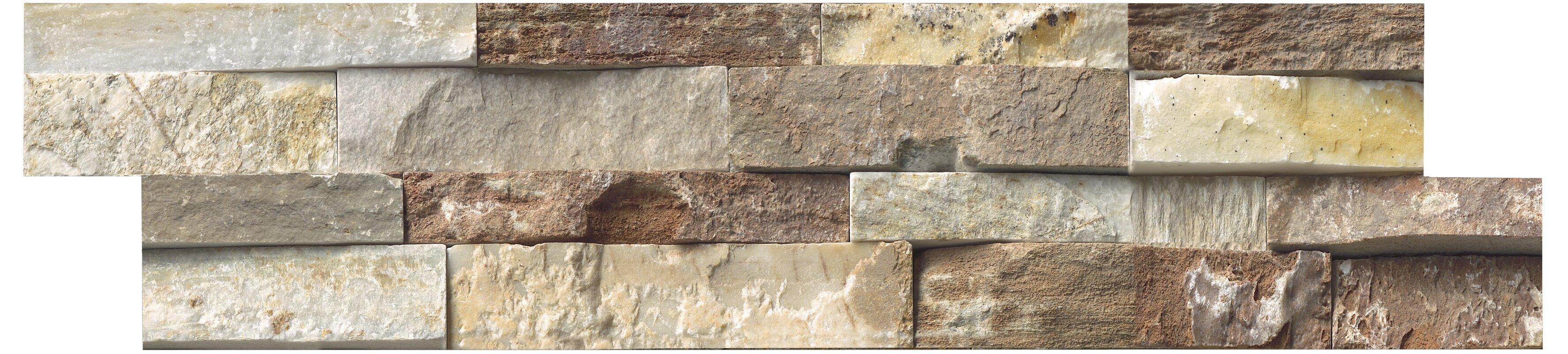 msi sample - random sized stone splitface tile in golden white
