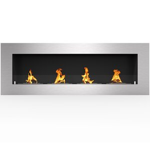 Aron PRO Ventless Built in Recessed Wall Mounted Bio-Ethanol Fireplace  with 4 Layer Burner by Orren Ellis