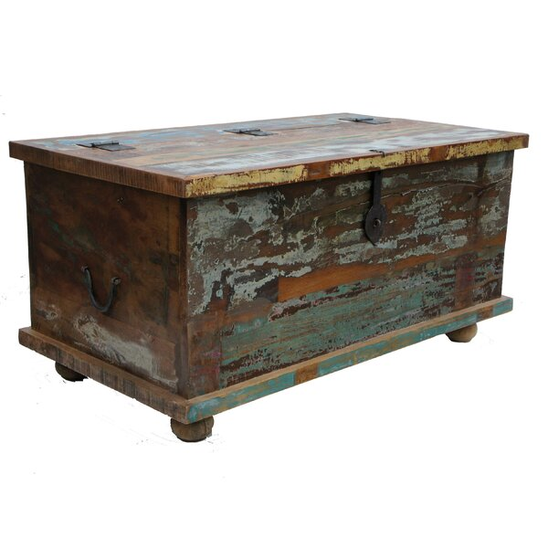 Reproduction Boxes/chests Antiques 1 X Old Vintage Wooden Tea Chest Crate Side Table Coffee Furniture