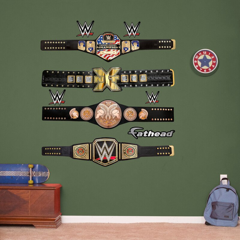 Great WWE Title Belts Peel And Stick Wall Decal