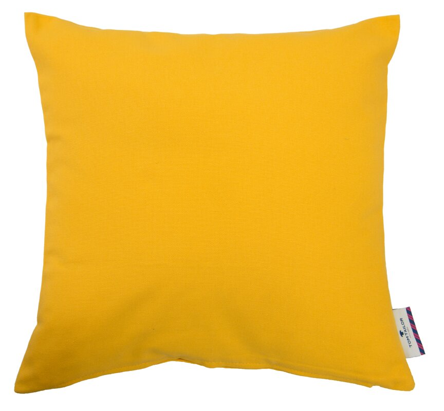Tom tailor t dove cotton cushion cover reviews wayfair for Dayroom yellow bedroom