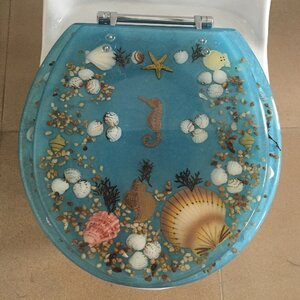 Sea Treasure Decorative Round Toilet Seat