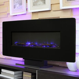 Curved Wall Mount Glass Electric Tabletop Fireplace