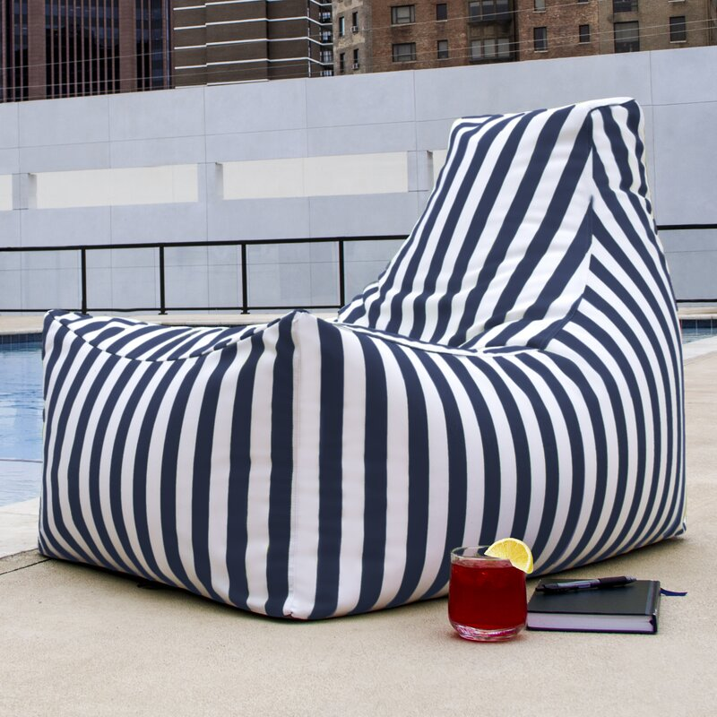 default_name - Jaxx Juniper Outdoor Striped Bean Bag Lounger & Reviews Wayfair