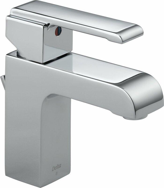 Delta Single Handle Bathroom Faucets delta arzo series single hole bathroom faucet with single handle