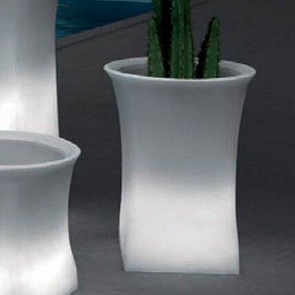 """100 Essentials Brightness Plastic Pot Planter  Size: 27.56"""" H x 20.87"""" W x 20.87"""" D"""