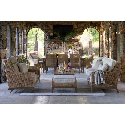 Peninsula 3 Piece Sofa Seating Group With Sunbrella Cushions