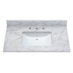 Carrara 37 Single Bathroom Vanity Top