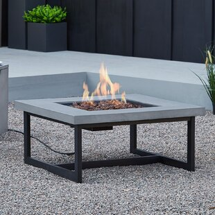Brenner Concrete Propane Natural Gas Fire Pit Table