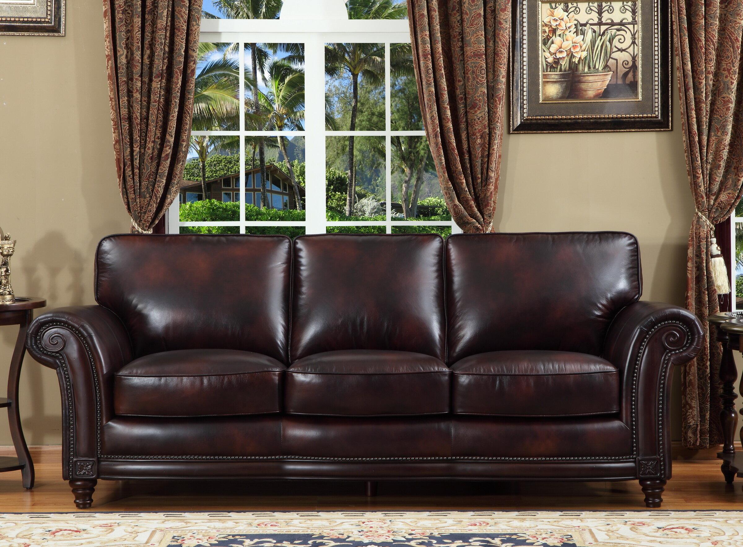 Lazzaro Leather Century Leather Sofa | Wayfair
