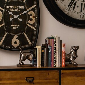 2-tlg. Buchstützen-Set Dog von Castleton Home