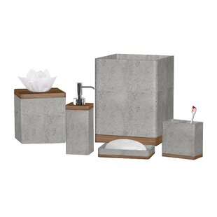 Stonington Concrete Stone 3 Piece Bathroom Accessory Set