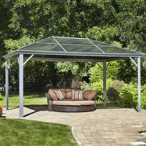 All Season Marseille 14 Ft. W x 10 Ft. D Aluminum Permanent Gazebo