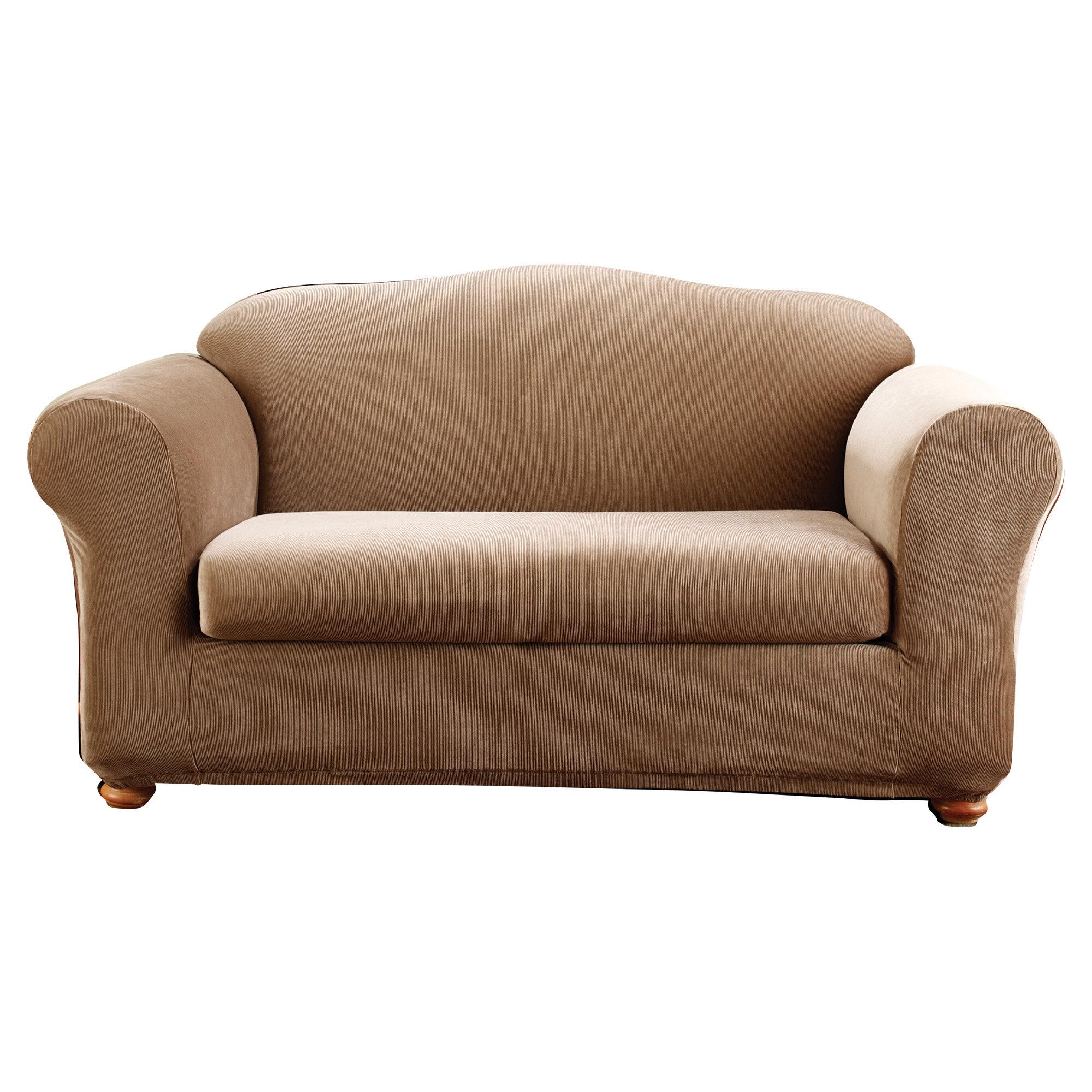 Sure Fit Stretch Stripe Madison Box Cushion Loveseat