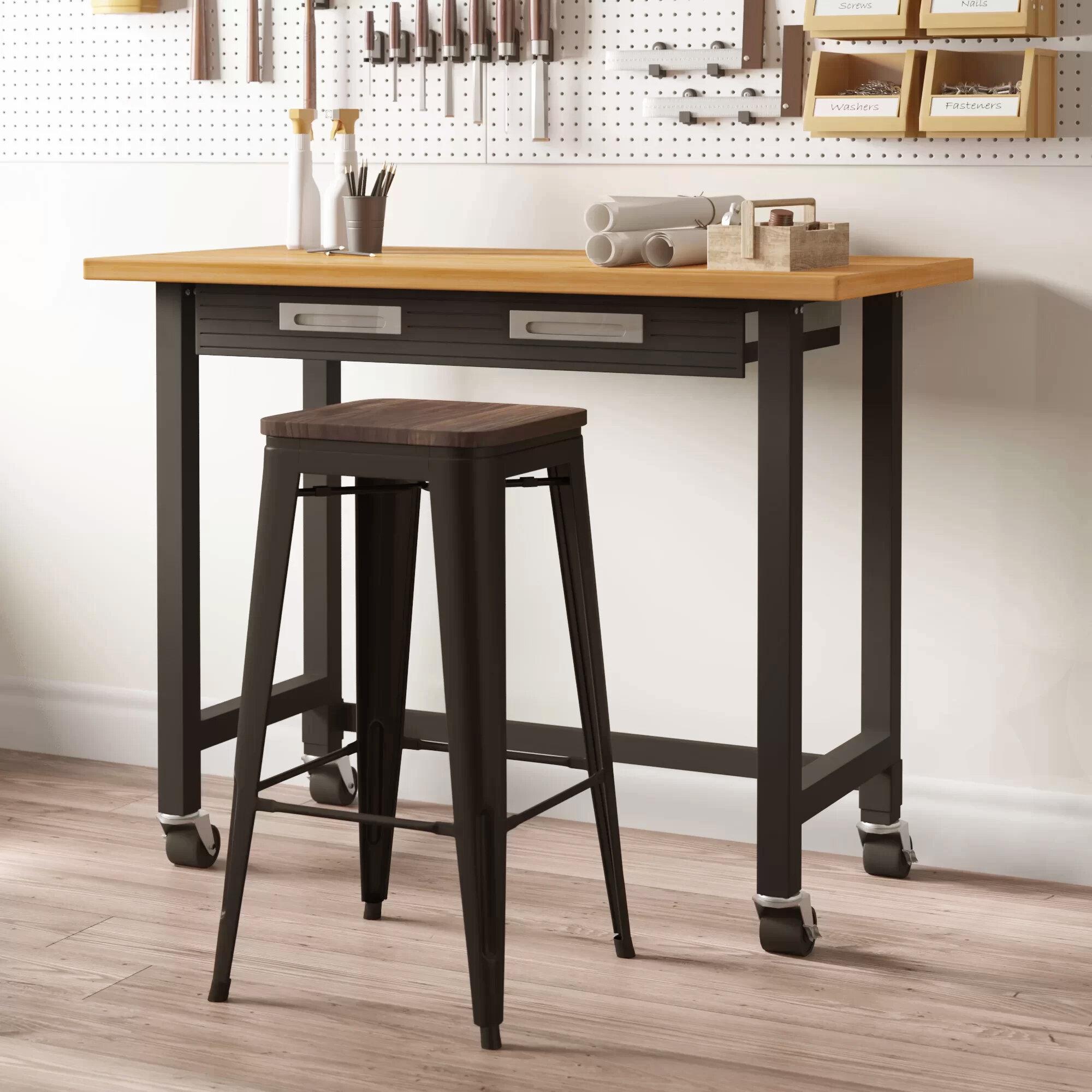 "mitchell 48""w wood top workbench"