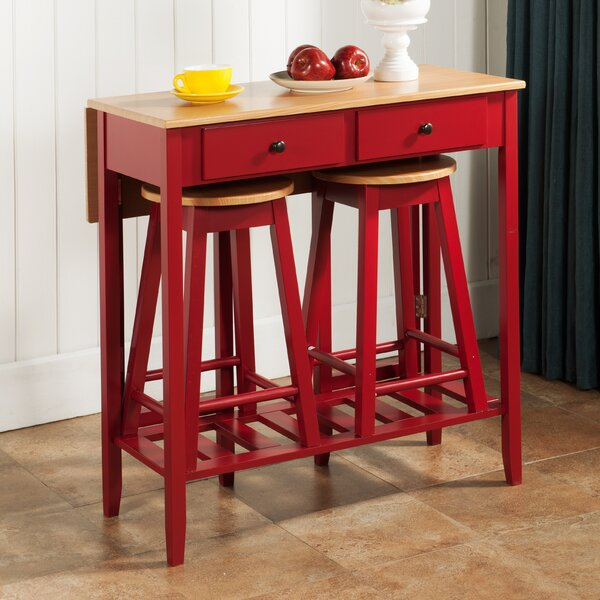 InRoom Designs 3 Piece Pub Table Set & Reviews   Wayfair