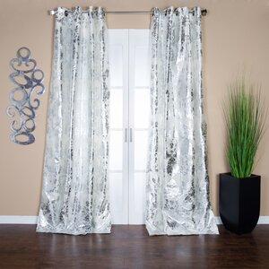 Amirah Damask Semi-Sheer Grommet Single Curtain Panel