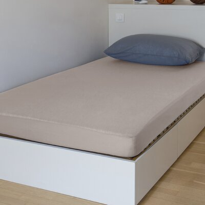 "Breathable And Waterproof Standard Fitted Sheet And Protector Bsensible Color: Beige, Size: 80"" H X 60"" W X 12"" D"