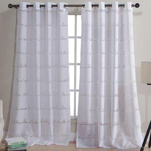 Printed Sheer Curtains