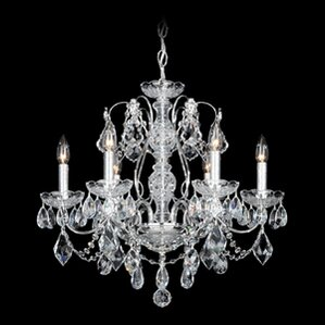 century 6light crystal chandelier - Schonbek Lighting