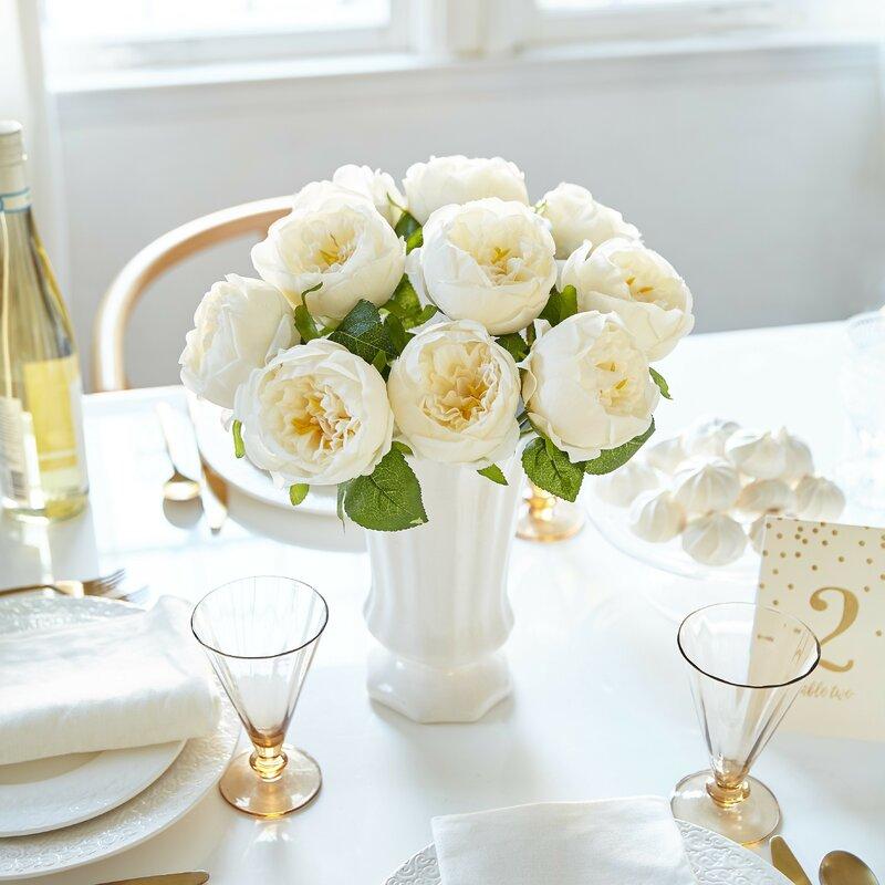 Le prise artificial peony silk flower centerpiece reviews wayfair artificial peony silk flower centerpiece mightylinksfo