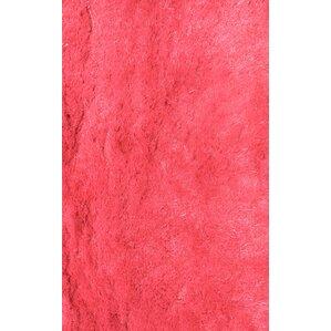 Silky Shag Hot Pink Indoor Area Rug