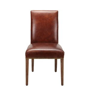 Vida Genuine Leather Upholstered Dining Chair (Set of 2) by Darby Home Co